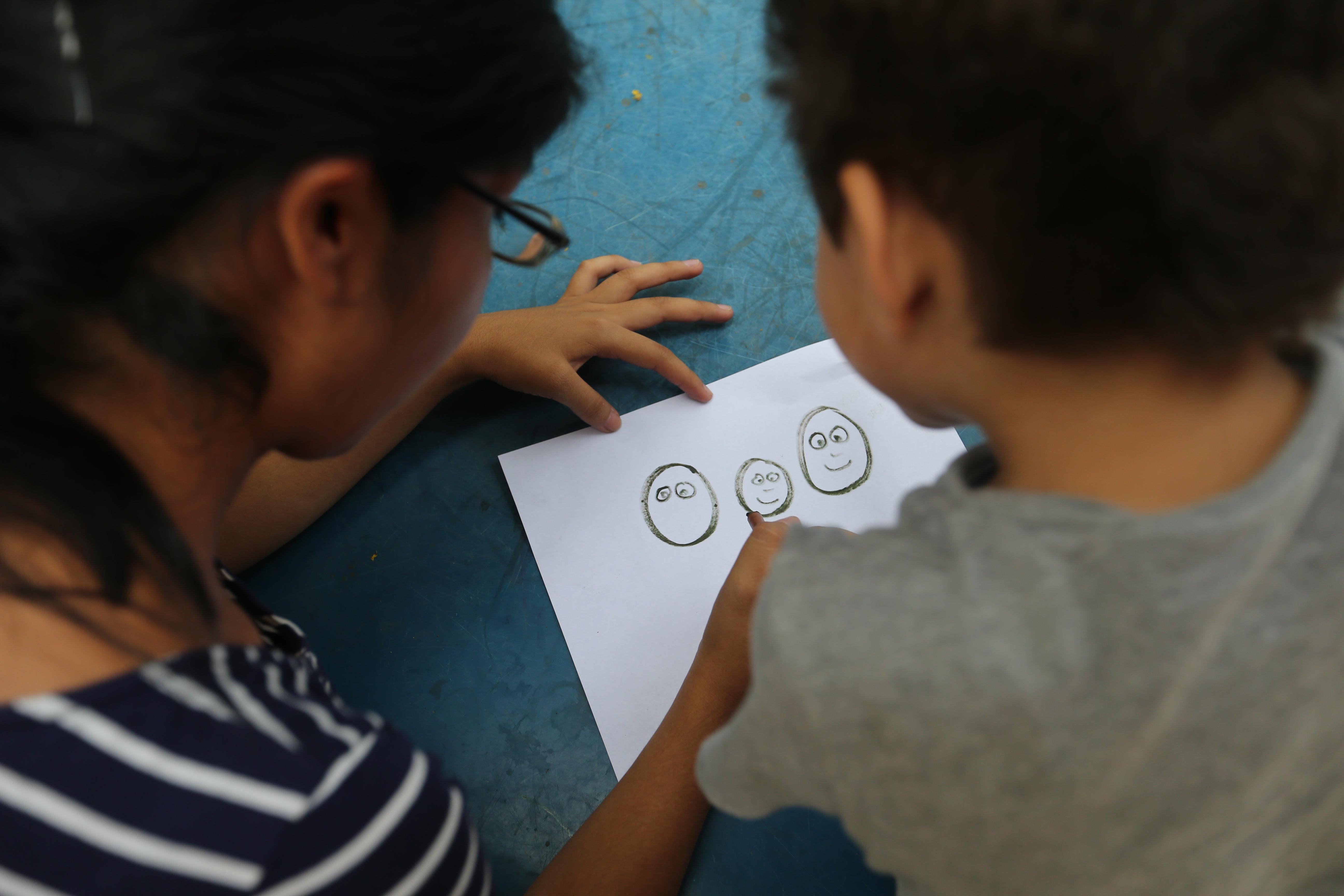 Teacher child Faces