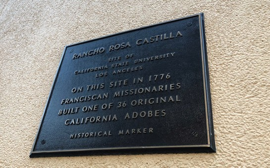 Historical mark that reads Rancho Rosa Castilla site
