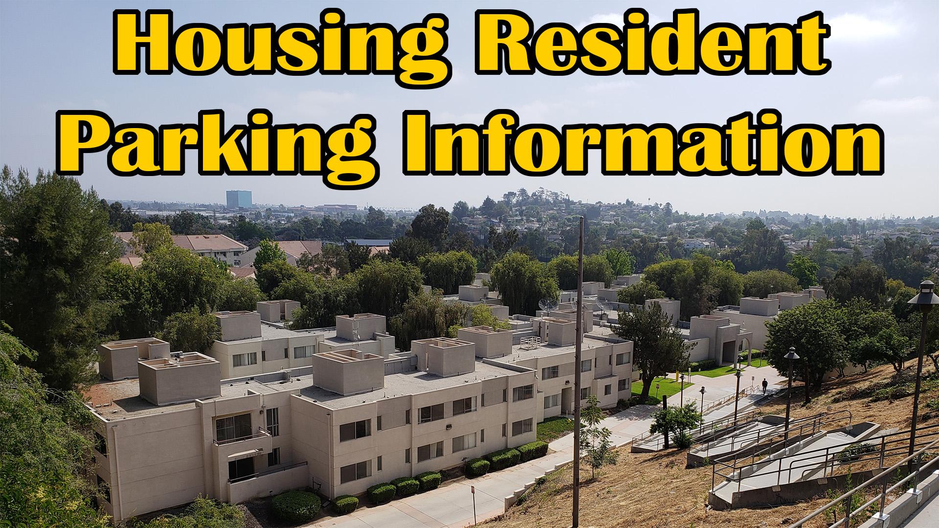 Housing Resident Parking Information