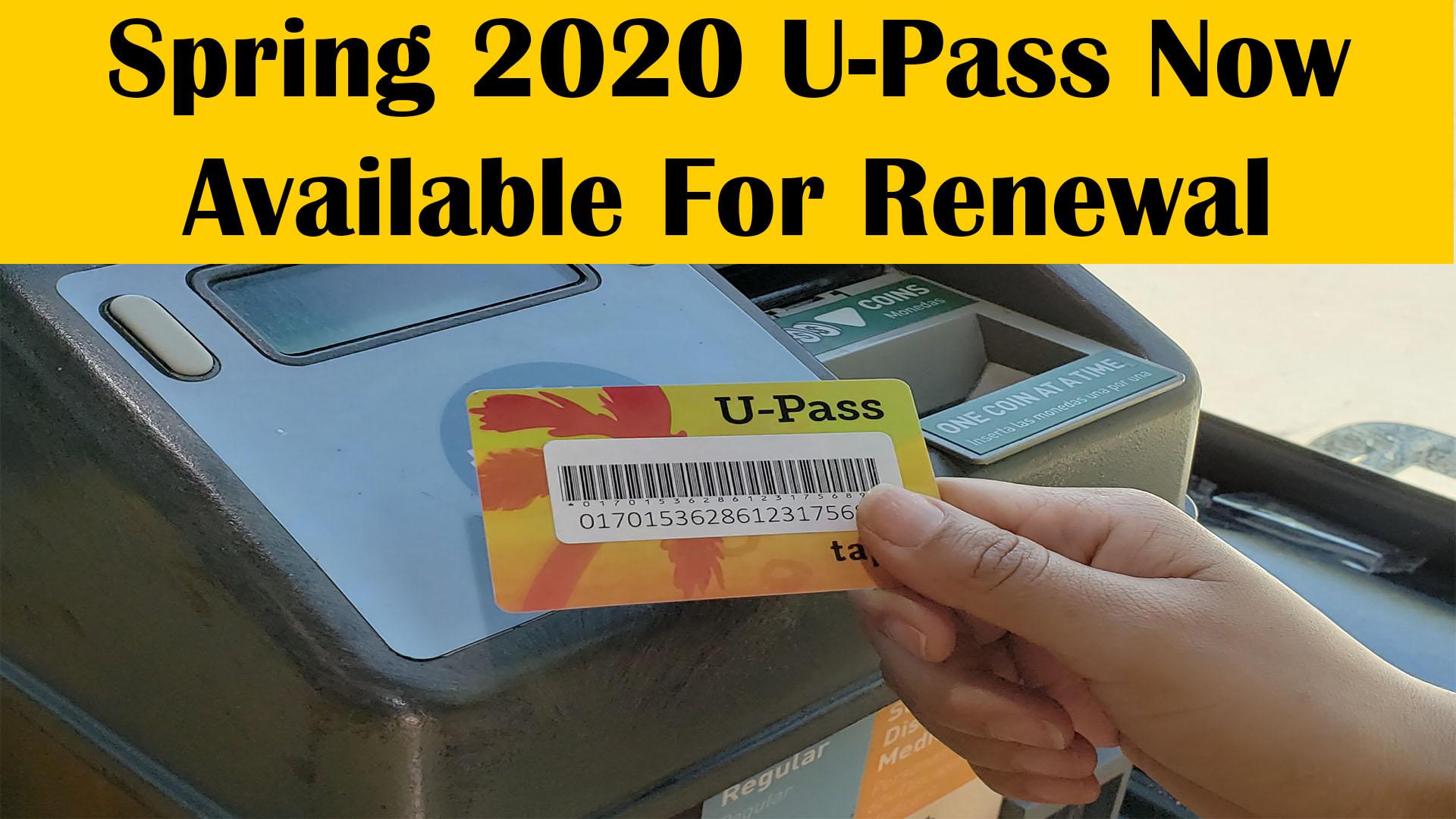 Spring 2020 U-Pass Information